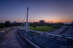Sunrise at Carlisle Castle (Daniel Coyle) Tags: sunriseatcarlislecastle sunrise carlisle carlislecastle danielcoyle uk england nikon nikond7100 d7100 cumbria dawn city cityscape bridge longexposure