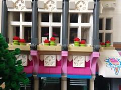 Jo, Jo & Mike's Ice Cream Parlour (craigslegostuff) Tags: lego moc modular building icecream movie apartment window windows awning mocs mod mods collectible cmf collectibleminifigs buildings street city town road shop business 16 32 16x32 32x16 creator series modularbuilding mini figure fig figs minifgures minifigs figures collectibleminifigures interior exterior floors ice cream icecreams parlour lounge bedroom bathroom kitchen pink blue flower flowers box windowbox afol