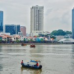 Singapore river with Boat Quay thumbnail