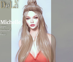 """=DeLa*= new hair """"Michelle"""" (=DeLa*=) Tags: dela hair bento fitted mesh materials secondlife secondlifefashion sl slhair style tres chic new"""