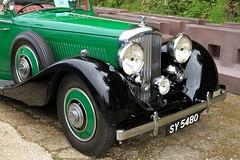 1935 Bentley 3.5 Litre Drophead Coupe SY 5480 (BIKEPILOT, Thx for + 5,000,000 views) Tags: 1935 bentley 35 litre dropheadcoupe sy5480 rrec rollsroyceenthusiastsclub southofenglandrally classic icon vintage car automobile vehicle transport brooklandsmuseum weybridge surrey uk england britain green black