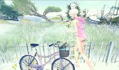 Smile Like You Mean It♥ (danaorianaor) Tags: besom scandalize nature blue bodysuit green dana blog avatar secondlife bun beauty flowers bike flat maitreya catwa catya glamaffair event