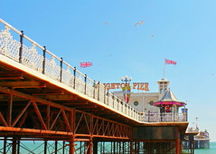Brighton Palace Pier (Roy Richard Llowarch) Tags: sussex eastsussex brighton brightonandhove brightonhove brightonsussex brightonbeach brightonpier pier piers seaside seashore beaches beach fun funfair rides fair fairs happy family families familyfun england bh bankholiday bankholidayweekend sunshine sunny spring summer blueskies bluesky english holidays holiday weekend weekends daytrips springtime architecture seasidetowns royllowarch royrichardllowarch travel people vacation vacations places structures edwardian water ocean gb uk photographs photography photos happiness trips palacepier brightonpalacepier