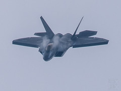 F-22 Raptor displacing the air around it (LEXPIX_) Tags: f22 raptopr f22raptor fighter jet aircraft next generation bethpage airshow vortex condensation nikon d850 nikkor 200500 lexpix