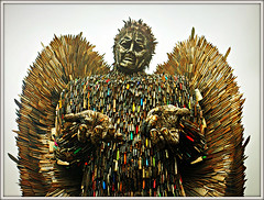 Knife Angel (Jason 87030) Tags: tribute victims sculpture deathn killings police amnesty iron knife blades knives wings angel tall cops weapons dagger shropshire oswestry help respect arms hands face head cut blood machete sword danger massacre victim crime cleaver photo photos pic pics socialenvy pleaseforgiveme picture pictures snapshot art beautiful picoftheday photooftheday color allshots exposure composition focus capture moment