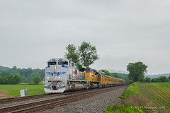 UP EMD SD70AH #1943 @ Mertztown, PA (Darryl Rule's Photography) Tags: 1943 2018 amtrak clouds cloudy diesel diesels emd freight freightcar freighttrain freighttrains ge helpers may middledivision mixedfreight ns norfolksouthern ocs passenger passengertrain railroad railroads sd70ace spiritoftheunionpacific spring train trains up unionpacific westslope