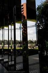 2017 - Open Square Garden - Saturday - 08 - Gasholder Park -7276 (Out To The Streets) Tags: 2017 20170617 europe gasholderpark june2017 london opengardensquares opengardensquares2017 opengardensquares2017sunday reflection uk unitedkingdom garden mirror