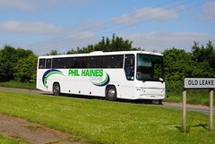 Phil Haines Coaches - on A52 (Hesterjenna Photography) Tags: d7phc coach psv bus haines volvo plaxton boston lincolnshire lincs schoolbus scholars transport travel excursion expresscoach am06agz
