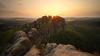 Sunset at Schrammstein View (Stefan Zwi.) Tags: schrammsteine sächsischeschweiz sunset sonnenuntergang rock landscape landschaft sachsen sonne sun light licht heliar15mm voigtländer ngc