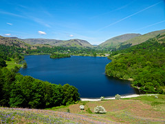 Grasmere (Carol Crook) Tags: lake lakedistrict grasmere loughrigg view landscape countryside bluebells blossom cumbria spring