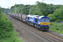 "GB Railfreight Class 66/7, 66727 ""Maritime One"" (37190 ""Dalzell"") Tags: gbrf gbrailfreight hectorgroup maritimeblue corporatecustomerlivery gm generalmotors euroshed shed bluebird class66 class667 66727 maritimeone boarshead wigan"