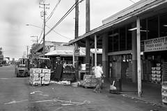 3rd Street, Jack London Square - Oakland, CA (Rex Mandel) Tags: oaklandca oakland jacklondonsquare producemarket wholesaler westcoastproduce street streetphotography blackandwhite bw working telephonepoles electriclines
