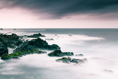 Misty surge (Rico the noob) Tags: 2018 rock d850 landscape nature water outdoor stones clouds longexposure beach ocean 20mm travel tenerife dof sea sky rocks teneriffa coast published 20mmf18