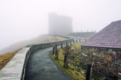 Silent Hill (Oleh Khavroniuk (Khavronyuk)) Tags: nikon nikkor stjohns newfoundandlabrador newfoundland atlanticcanada canada explorecanada explorenl foggy fog day d7100 path buildings building architecture spring springtime printemps travel travelphotography hiking walking hill signal 365 tranquility flickr town city geotagged candid flight photo photography photoart island weather nature landscape house new national contrast vacation holiday outside landschaft paisaje coast