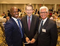 Councilmember Tyron Hampton, Bill Bogaard & George Falardeau