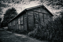 Cabin in the woods (Flandrach) Tags: cabin blokhut huisje hout wood bos forrest dark sinister scary spooky hdr mysterious abandoned verlaten