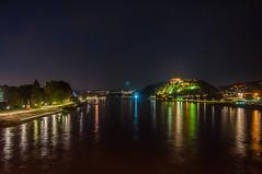 Rhine at Night (Tony Shertila) Tags: alamannia coblence deutschland germany koblenz city coblenz europe moselle night outdoor rhine rhineland scenic rheinlandpfalz deu