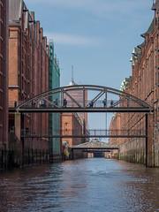 LR Hamburg 2018-5190193 (hunbille) Tags: birgittehamburg2018lr germany hamburg harbour speicherstadt canal bridge elbe river friendlychallenges