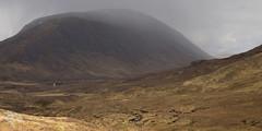 Bleak (andy_grundy) Tags: lairiggartain landscape highlands glencoe house bleak beinnachrulaiste shower rain pentaxk5 mountain