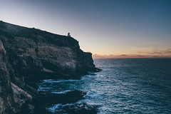 Otago Peninsula (bruit_silencieux) Tags: otago peninsula newzealand sonya7 sigmaartf1435mm sunset ocean pacific cliff nature lighthouse ngc