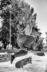 Skateboarding 5 (Mytacism) Tags: skateboarding skater nikon d610 50mm sweden sports black white blackandwhite monochrome bw bwd