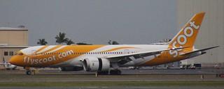 9V-OFI | Scoot | TR700 | KIX - HNL | Boeing 787-8 Dreamliner | Daniel K. Inouye International Airport | (HNL/PHNL)