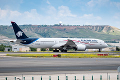 N438AM (fitzjames) Tags: 787 7879 aeromexico age1 boeing dreamliner lemd mad madrid madridbarajasairport may2018 n438am sn43862 spain