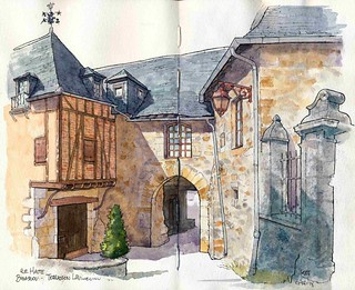 Terrasson Lavilledieu, rue Haute Bigassou porche