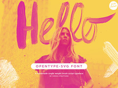 Hello Monday brush Script (Its me simon) Tags: brush script font handwritten handwriting urban trendy wedding romantic pretty lettered colour color fontself paint