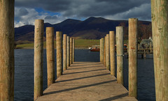Skiddaw View (Andy Watson1) Tags: derwentwater jetty light shadow skiddaw lakedistrictnationalpark lake district national park keswick cumbria england united kingdom great britain view landscape scenery mountain march spring holiday travel photography canon70d sky clouds scenic outdoor nature