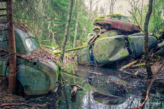 Water in the footwell (MGness / urbexery.com) Tags: lost place places abandoned abandone abandones exploration decay decayed car lostcar urbex urban urbexery rockandroll black death christine boyfriend urbanexploration rusty cargraveyard eye oldtimer wood forest wald nature auto union audi bentley rolls royce volvo saab porsche