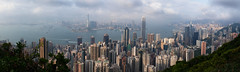 Hong Kong from Victoria Peak (peter.heindl) Tags: kowloon hong kong hongkong victoria peak lookout outlook aussicht panorama pano city view harbour victoriaharbour landscape lugard road lugardroad