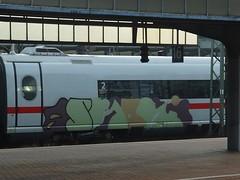 S~? (mkorsakov) Tags: dortmund hbf bahnhof mainstation zug train ice intercityexpress graffiti piece bunt colored unfertig