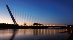 _5310034-Pano (jsanchezq65) Tags: puente puentedelalamillo sevilla seville andalucía andalusia bridge bluehour horaazul sunset night nightcity nightlights nightphotography elevationway spain