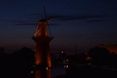 Nolet Distillery (Roterodamus) Tags: night mill windmill schiedam unedited manual
