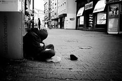 (formwandlah) Tags: kaiserslautern day winter street photography streetphotography urban candid city strange melancholic melancholisch darkness light bw blackwhite black white sw monochrom ricoh gr pentax formwandlah thorsten prinz licht monochromatic fineart bnw consumerism konsum luxus bettler beggar armut poverty homeless despair