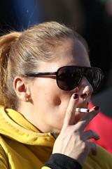 What a Drag (if you insist) Tags: inhale drag smoking smoker candid cigarette eurosmoke nicotine addict female cheek hollowing gwg