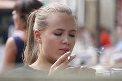 What a Drag (if you insist) Tags: inhale drag smoking smoker candid cigarette eurosmoke nicotine addict female