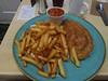 Pinocchio's Cafe C+O Pasty £5.99 (Bridgemarker Tim) Tags: food chips pasties newtonabbot tragomills