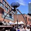 "Art that evokes ""War of the Worlds"" (R.A. Killmer) Tags: war worlds art street toronto canada ontario cool interesting people metal alien unique distillery district"