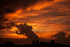 Heaven Touching Earth (Reached explore 6/10/18) (bellafashion) Tags: glory fire lightroom sky sunset sunsets orange beauty god artofgod heaven touching earth nature flickr