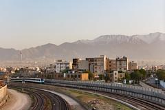 Tehran Skyline 001 (A.S. Kevin N.V.M.M. Chung) Tags: iran skyline horizon rail train transport railway metro tehran mountain alborz tower landscape