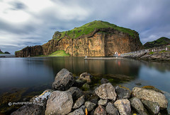 Heimaklettur (Toi-Vido) Tags: longexposures heimaey vestmannaeyjar heimaklettur sky rock sea iceland nikon toivido