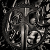 Sprockets (David Guidas) Tags: monochrome blackandwhite metal bicycles parts gears abstract still life pittsburgh fujifilm