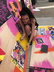 CLUB HEAT process photo 1 (leannaperry) Tags: leannaperry eddieperrote elisacox clubheat coolergallery gallery galleryshow artshow popup popupshop brooklyn newyork ny art artist artists design designer graphicdesign illustration drawing poster posters postershow pink orange yellow wheatpaste prints collage quilted goth emo punk