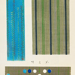 Vintage woodblock print of Japanese textile from Shima-Shima (1904) by Furuya Korin. Digitally enhanced from our own original edition. thumbnail