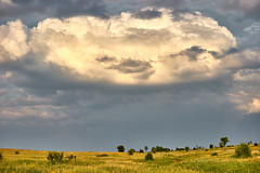 Hills, fields and sky with clouds (uiriidolgalev) Tags: hills fieldsandskywithclouds
