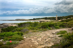 2789 (Bethie Inthesky) Tags: necropolis mallorca spain beach archaeology burialground lighthouse tower