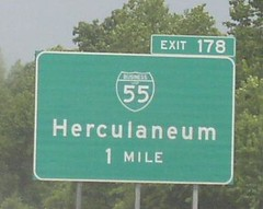 Interstate 55 North approaches Exit 178, Spur 55, Herculaneum exit (2013) (poundsdwayne47) Tags: interstate55 missouri festus crystalcity 2013 highways roads traffic travel signs