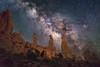 Marching Through the Cosmos (jrlarson67) Tags: astrophotography astro nightsky stars milky way archesnationalpark utah longexposure
